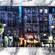Green Pipes Of Pompidou Center Paris Art Print