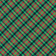 Green Red And Black Diagonal Plaid Textile Background Art Print