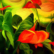 Green Red Art Print