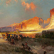 Green River Cliffs Wyoming Art Print
