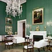 Green Room In The White House Art Print