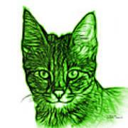 Green Savannah Cat - 5462 F S Art Print