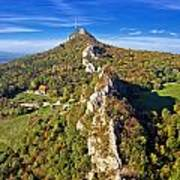 Green Scenery Of Kalnik Mountain Ridge Art Print