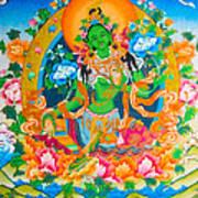 Green Tara 12 Art Print