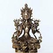 Green Tara Goddess Statue Art Print