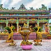 Green Temple Art Print