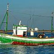 Green Trawler Art Print