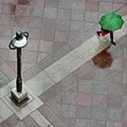 Green Umbrella Art Print