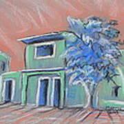 Green Village Art Print by Marcia Meade