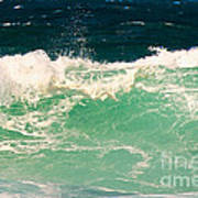 Green Wave Pacific Grove Ca  Art Print