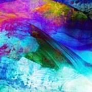 Green Wave - Vibrant Artwork Art Print