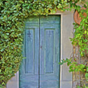 Green Wood Door Of Tuscany Art Print