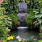 Greenhouse Garden Waterfall Art Print