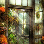 Greenhouse - The Door To Paradise Art Print by Mike Savad