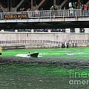 Greening The Chicago River Art Print