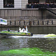 Greening The Chicago River For St Patrick's Day Art Print