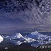 Greenland Midnight Sun Art Print