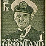Greenland Stamp Circa 1950 Art Print