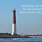 Greetings From The Beautiful New Jersey Shore - Barnegat Lighthouse Art Print