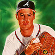 Greg Maddux Print by Dick Bobnick