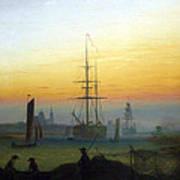 Greifswald Harbour Art Print