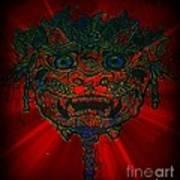Gremlin In Dynamic Color Art Print