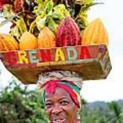 Grenada Spice Woman. Art Print