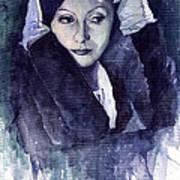 Greta Garbo Art Print by Yuriy  Shevchuk