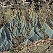 Grey Cliffs In Waterpocket Fold  Art Print