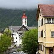 Grey Day In Switzerland  Art Print