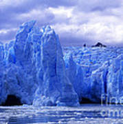 Grey Glacier Patagonia Chile Art Print