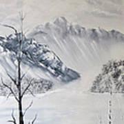 Grey Mountains Art Print