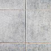 Grey Tiles Art Print
