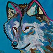 Grey Wolf Art Print