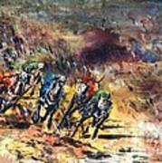 Greyhound Racing Art Print