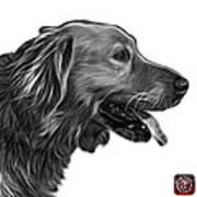 Greyscale Golden Retriever - 4047 Fs Art Print