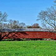 Griesemers Mill Covered Bridge Berks County Pennsylvania Art Print
