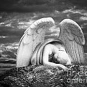 Grieving Angel Art Print by Olga Zamora