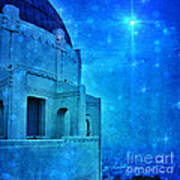 Griffith Park Observatory At Night Art Print