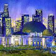 Griffith Park with LA Nocturne Art Print