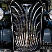 Grill And Headlights Art Print