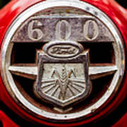 Grill Logo Detail - 1950s-vintage Ford 601 Workmaster Tractor Art Print