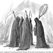 Grim Reapers Stand In A Circle Art Print