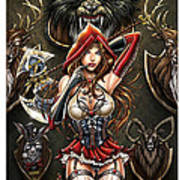 Grimm Myths And Legends 01e - Red Riding Hood Print by Zenescope Entertainment