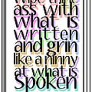 Grin Like A Ninny Art Print