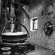 Grinder For Unmalted Barley In An Old Distillery Art Print
