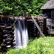 Grist Mill And Water Trough Art Print