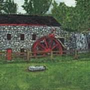 Grist Mill At Wayside Inn Art Print