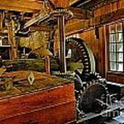 Grist Mill Gears Art Print