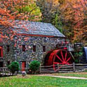 Grist Mill In Autumn Art Print